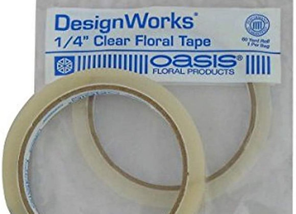 """OASIS 1/4"""" Clear Floral Tape"""