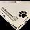 Thumbnail: Custom White Bandanna with Black Print