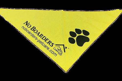 Custom Yellow Bandanna with Black Print