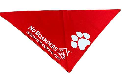 Custom Red Bandanna with White Print