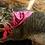 Thumbnail: Custom Pink Bandanna with Black Print