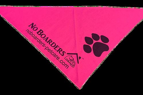 Custom Pink Bandanna with Black Print