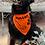Thumbnail: Custom Orange Bandanna with Black Print