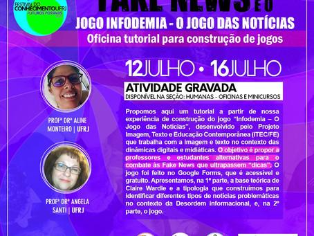 """Fake News e o jogo """"Infodemia"""" no Festival do Conhecimento da UFRJ"""