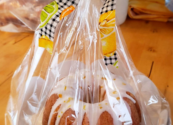 Orange Bundt Cake Covered With Lime (Lactose Free)