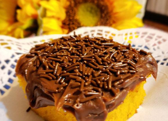 Carrot Cake Covered with Chocolate Brigadeiro