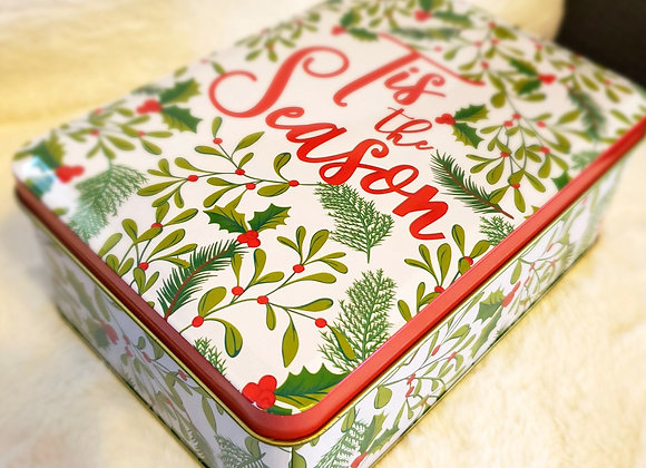Xmas Tin with Guava Cookie