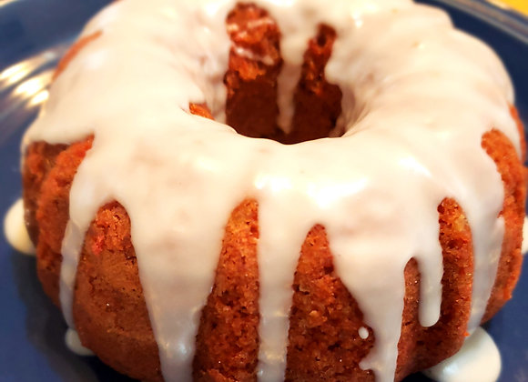 Beet Bundt Cake Covered With Lime (Lactose Free)