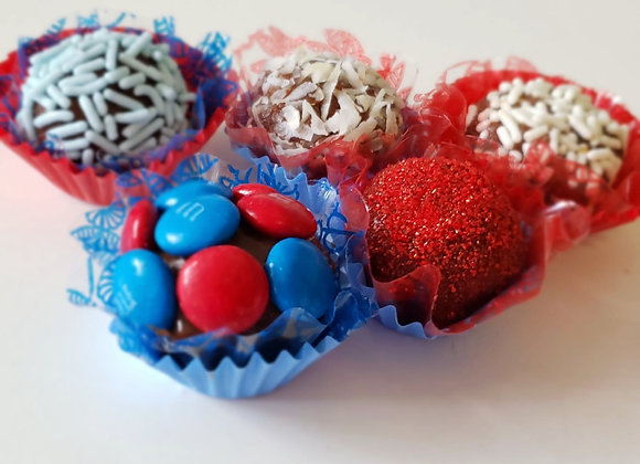 Special Combo 4th July - 12 Mixed Brigadeiros +1 Chocolate Cake