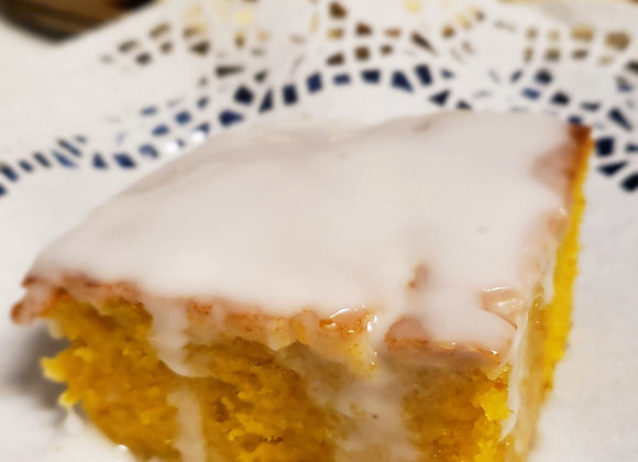 Carrot Cake Covered With Lime (Lactose Free)