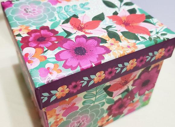 Flowers Gift Box Combo - 3 Brigadeiro Classic + 1 Honey Cake