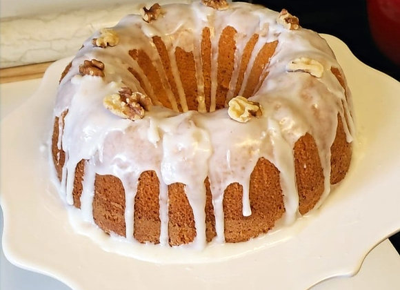 Vanilla Cake Covered with Lemon and Nuts