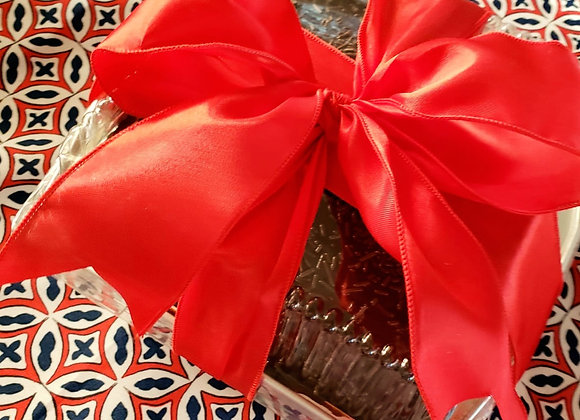 Gift Carrot Cake Covered With Cholate