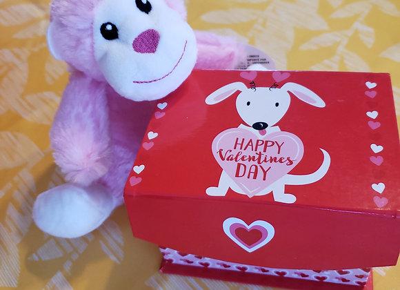 Combo Gift Box - 6 Brigadeiros + Stuffed Monkey