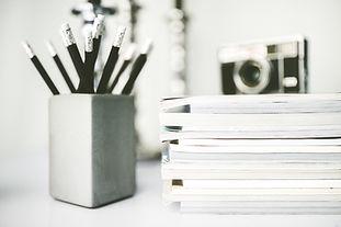 Magazines pile