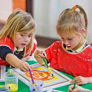 Swans Primary School. Painting!