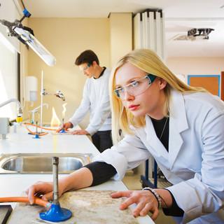 Swans Sixth Form. Science laboratory.