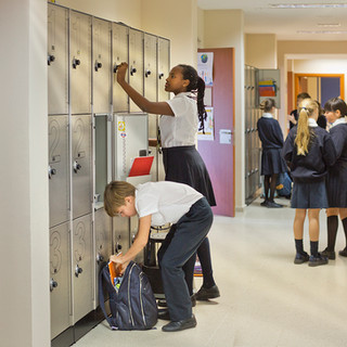 Swans Secondary School. Lockers.
