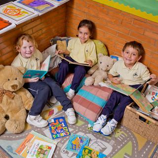 Swans Primary School. Reading corner.