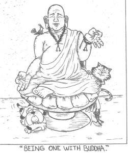 Dharma Pets Being One With Buddha Jozan