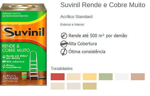 SUVINIL RENDE MUITO E COBRE MUITO