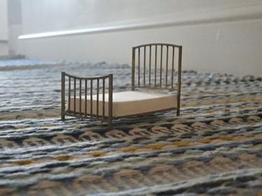 Brass bed, soldered together