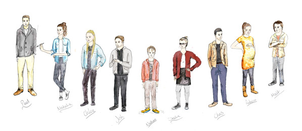 Costume Designs for Hush - Designed by Lucy Fowler