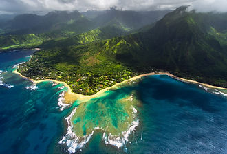 mountain ocean landscape hawaii