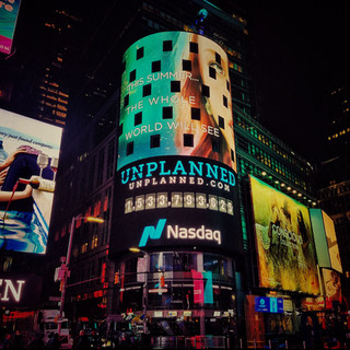 Unplanned Times Square Billboard