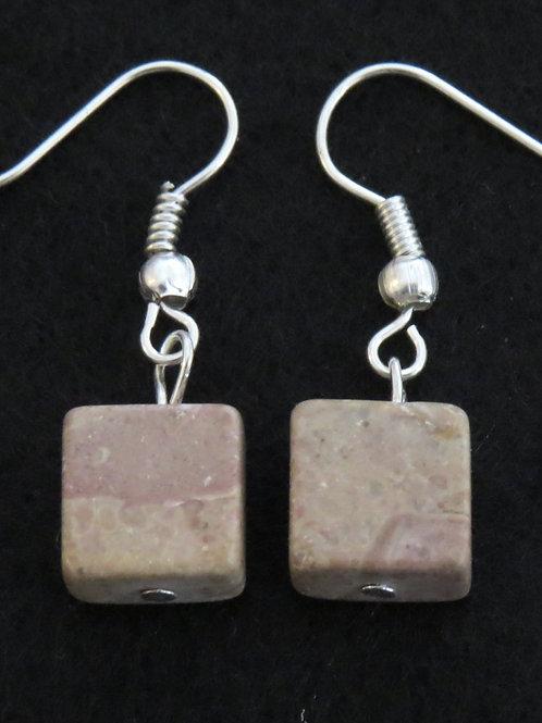 sqaure stone earings