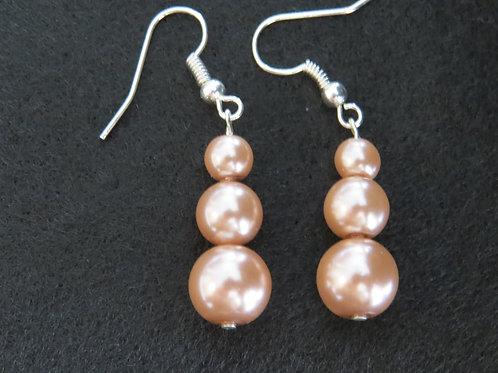 Layered Faux Pearl earings
