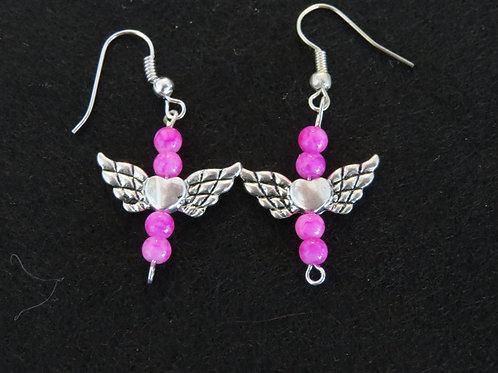Winged heart earings