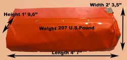measurement and weight of 33ft roll