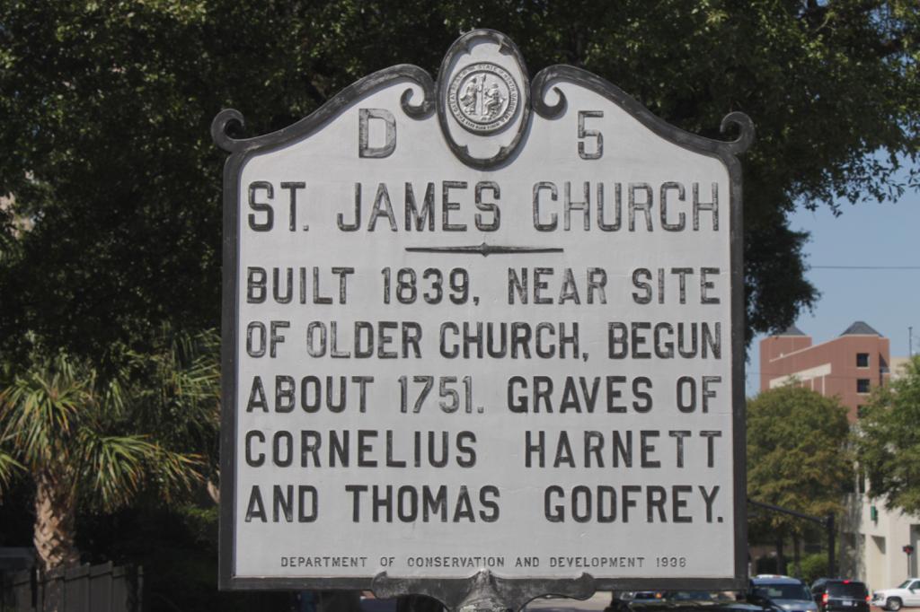 St James historic sign