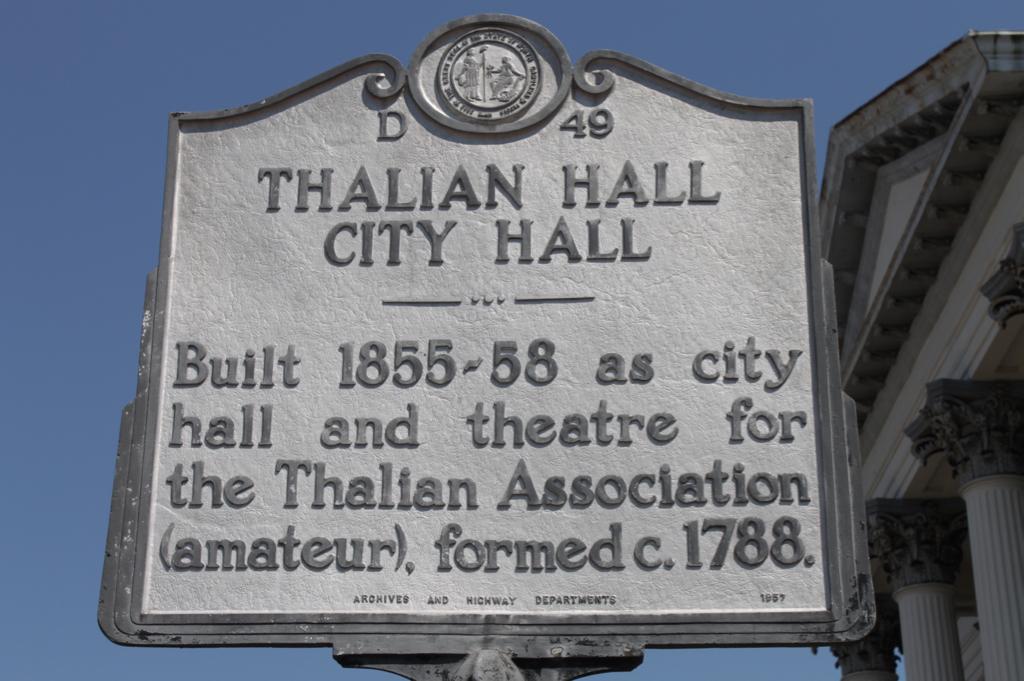 Thalian Hall historic sign