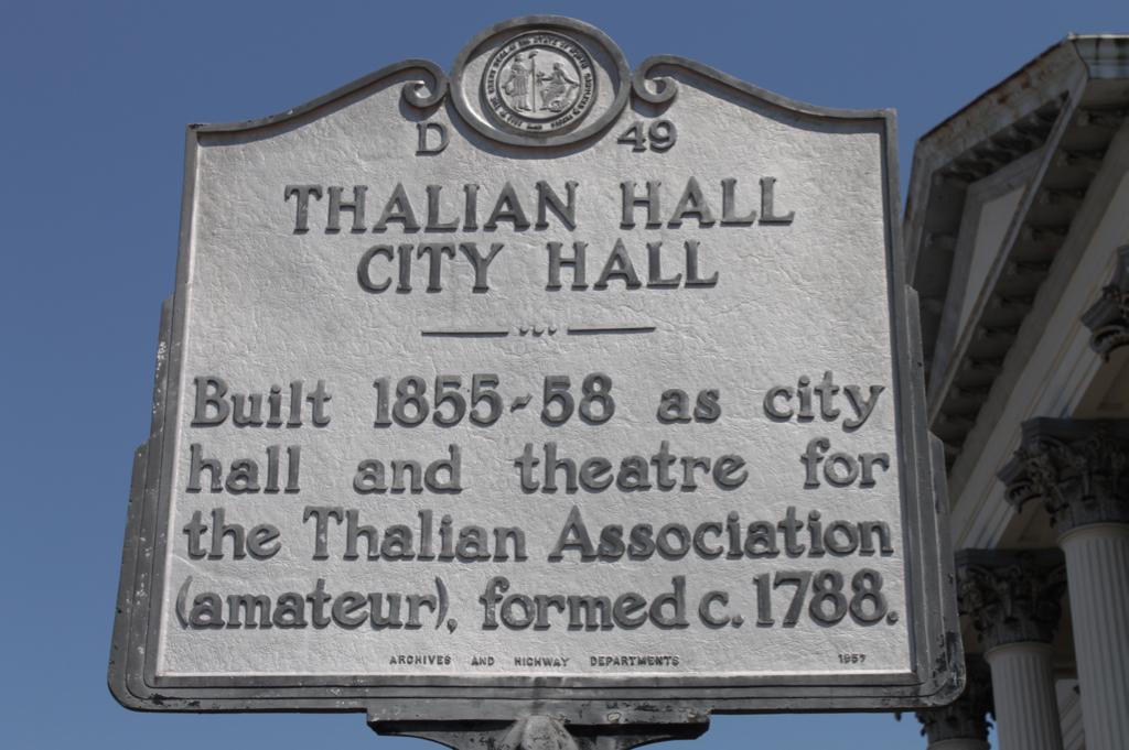 Thalian Hall historic sign