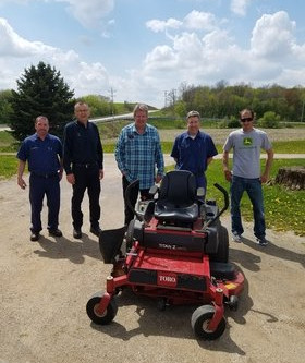 WARRIOR HOUSE GETS DONATED MOWER