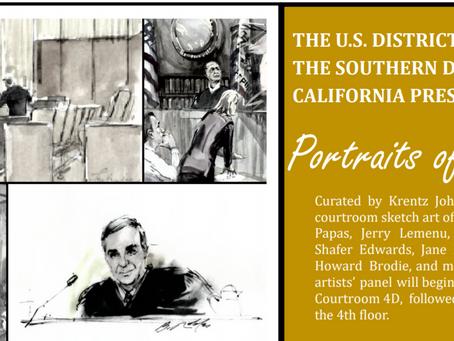 Federal Court Sketch Artist Exhibit Opening