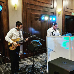 Playing at the Maayanot Shabbaton with Aryeh Tiefenbrunn