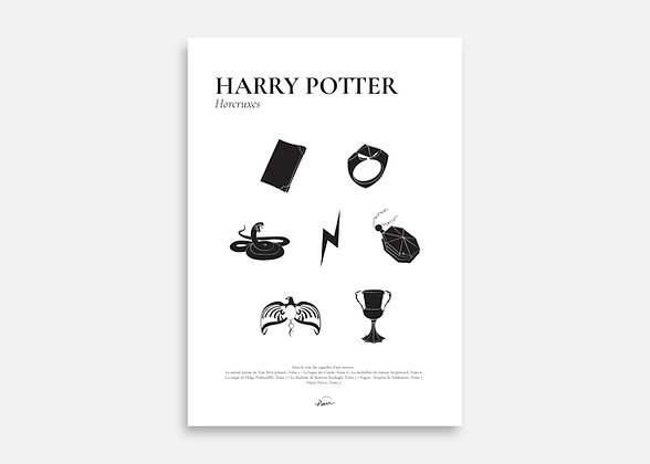 Harry Potter - Affiche minimaliste signée