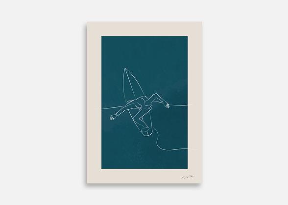 Surfer - Affiche minimaliste signée