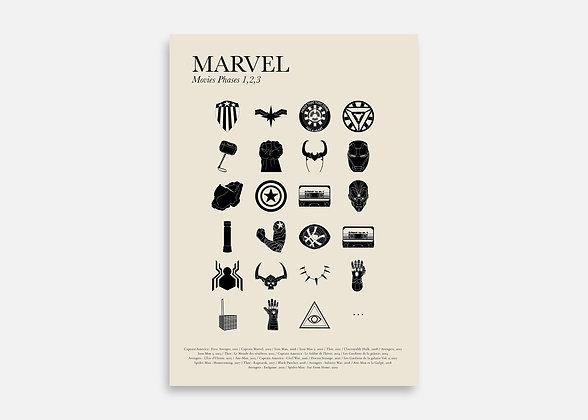 Marvel - Affiche minimaliste signée