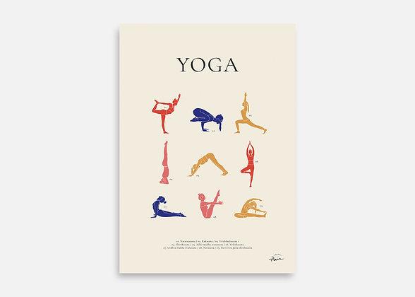 Yoga - Affiche minimaliste signée