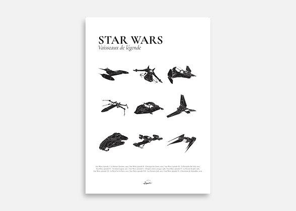 Star Wars - Affiche minimaliste signée