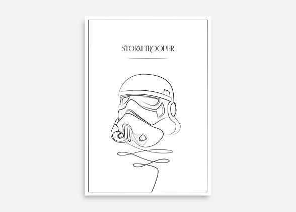Storm Trooper - Affiche minimaliste signée