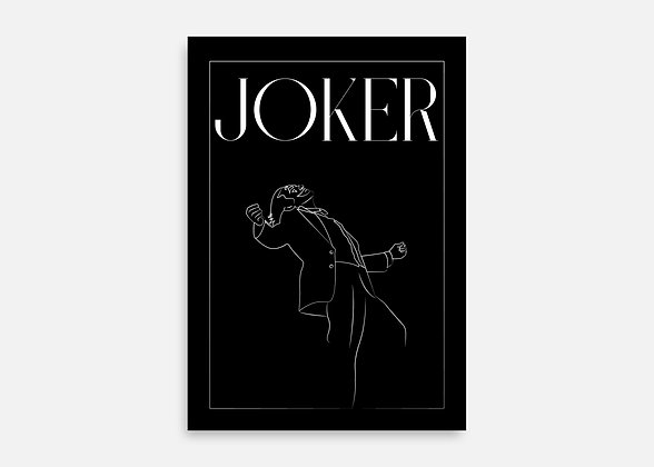 Joker - Affiche minimaliste signée