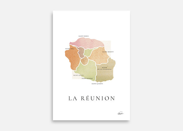 La Réunion - Affiche signée