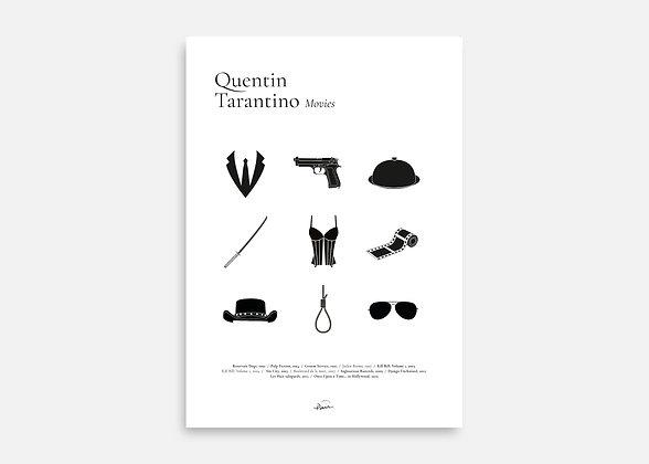 Tarantino Movies - Affiche minimaliste signée