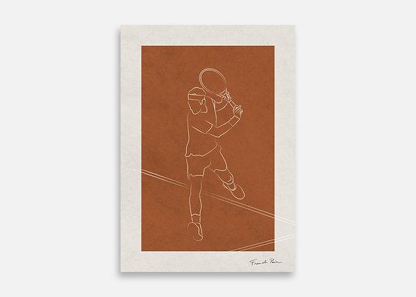 Tennis - Affiche minimaliste signée