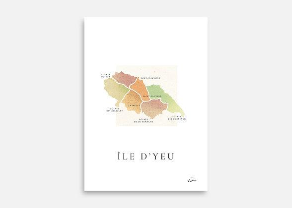 Île d'Yeu - Affiche signée